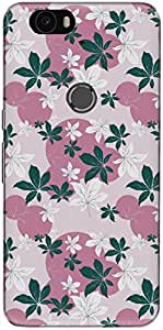 The Racoon Grip printed designer hard back mobile phone case cover for Huawei Nexus 6P. (flower dew)