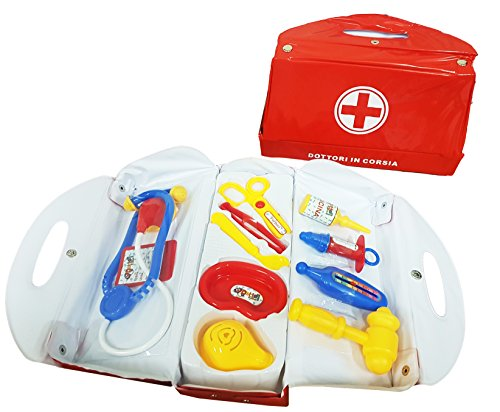 takestop® Koffer Ärzte in Spur Doktor Stethoskop Taschenmesser Schere Spritze Mikroskop Hämmerchen Spiel Spielzeug Kinder Kind Eta '3+