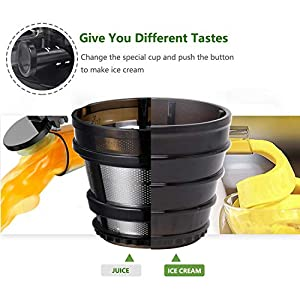 Taylor Swoden Slow joy - Estrattore di succo a freddo con spremitura lenta da 48 Giri/min. Imboccatura larga da 87mm per frutta e verdura intera. Funzione pulizia inversa e spazzola inclusa. - 2020 -