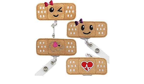 Toyvian 5 pz Retrattile Id Badge Reels Badge Holder con clip da cintura per infermieri
