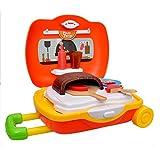 Toyshine Breiface Cum Trolley Pizza Set Kitchen Play Cart Pretend Play Set Toy