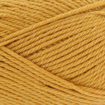Rowan Handstrickgarn pure wool worsted Farbe 00133 senfgelb 100 % Schurwolle 100 g waschbar 200m Lauflänge (Dk-garn Wool Pure Rowan)
