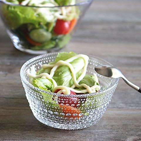 Glas Schüssel of Fruit Salatschüssel Dessert Schalen aus Eis Frühstücksschale