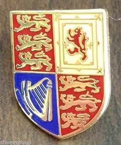 MOD approuvé Badge à épingle-Reine Elizabeth II Royal Cypher monogramme