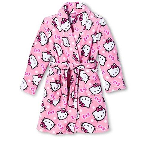 Hello Kitty Big Niñas Pretty Kitty Rosa felpa polar albornoz albornoz