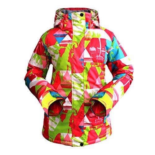 Elviray Damen Outdoor Sports Skianzug Overall Warme Winter Outdoor Sportjacke Fuzzy-ski
