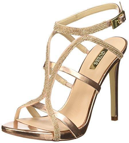 Guess Adalee3 Sue03 Sandali con cinturino alla caviglia, Donna, Rosa (Pink), 38