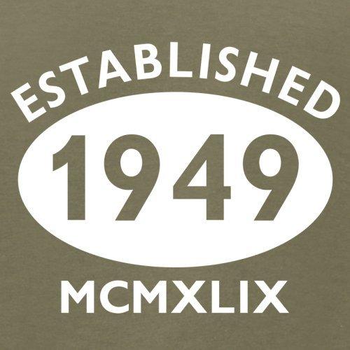 Gegründet 1949 Römische Ziffern - 68 Geburtstag - Herren T-Shirt - 13 Farben Khaki