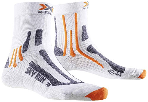 X-Socks Erwachsene Funktionssocken Sky Run Two, White, 42/44, X020433