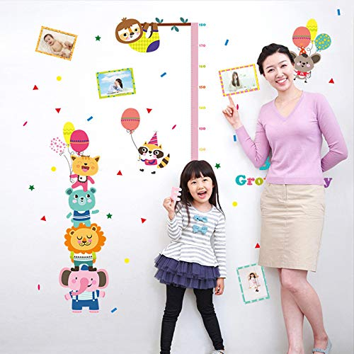 YUXAN Sticker Mural 1PC Grande Taille 107x136cm Bébé Grandir Heureux Vinyle Hauteur pour Enfants Enfants Chambre Décor de la Pépinière Stickers Affiche