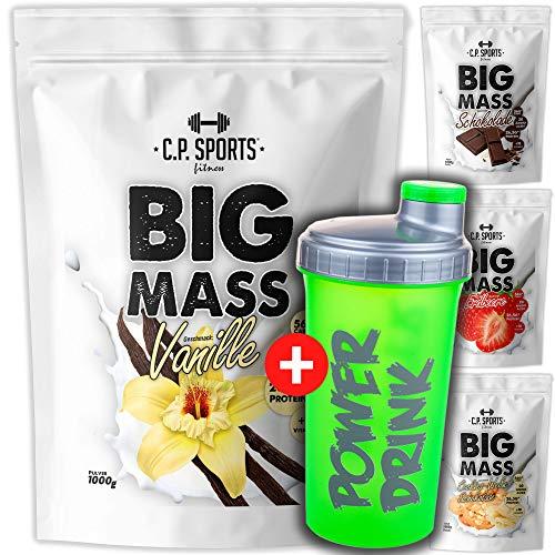 Big Mass - 1000g Beutel Weightgainer (verbesserte Formel) 3-Komponenten-Carbo-Matrix (Maltodextrin, Maisstärke, Dextrose) (Cookies/Schoko) -