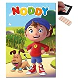 Bundle - 2 Items - Noddy Characters Poster - 91.5 x 61cms (36 x 24 Inches) and a Set of 4 Repositionable Adhesive Pads For Easy Wall Fixing