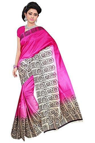 VAANSI CREATION Women's Cotton Silk Dress Material (VC- Banglori2_Pink_Free Size)