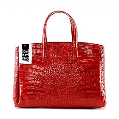 OH MY BAG Sac à main Cuir porté main bandoulière et de travers femmes en véritable cuir fabriqué en Italie - modèle BE LADY