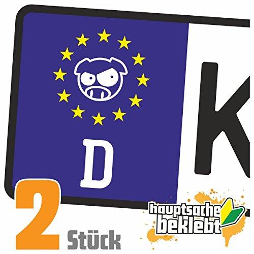 Wütendes Schwein - Angry Pig Kennzeichen Aufkleber Sticker Nummernschild - IN 15 FARBEN (Angry Bird-auto-aufkleber)