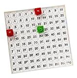 Dick-System 170001 Hundertertafel, passend zu den Steckwürfeln mit 1.7 cm Kantenlänge