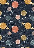 Lewis & Irene Space Stoffe – Sterne Silbergrau – LEW249