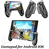 Mobile Game-Controller für iPad, 2 in 1 Tablet Gamepad Sensitive Shoot Aim Fire Trigger mit 2 Joysticks für PUBG/Regeln des Survivals/Messer Out Passt für Smartphone und Tablet (5,5 Zoll)