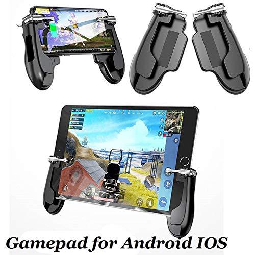 Mobile Game-Controller für iPad, 2 in 1 Tablet Gamepad Sensitive Shoot Aim Fire Trigger mit 2 Joysticks für PUBG/Regeln des Survivals/Messer Out Passt für Smartphone und Tablet (5,5 Zoll) (Ipad 4 Ersatz-bildschirm)