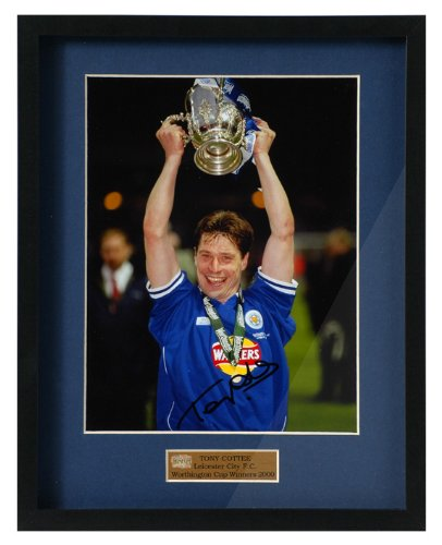 tony-cottee-parte-firmado-leicester-city-worthington-cup-fotografia-enmarcada-pp237