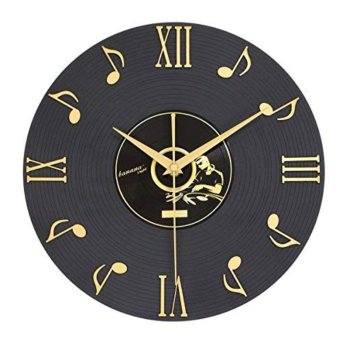 Sunbeter 3d note musicali e numeri romani vinyl record orologio da parete interior design home decor regali perfetti per gli amanti della musica 12 pollici