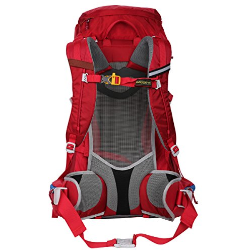Eshow Zaino 50 Litri da Trekking Outdoor Uomo Protezione Impermeabile Alpinismo Zaino 50L Escursionismo di Corsa Sacchetto Campeggio Rosso