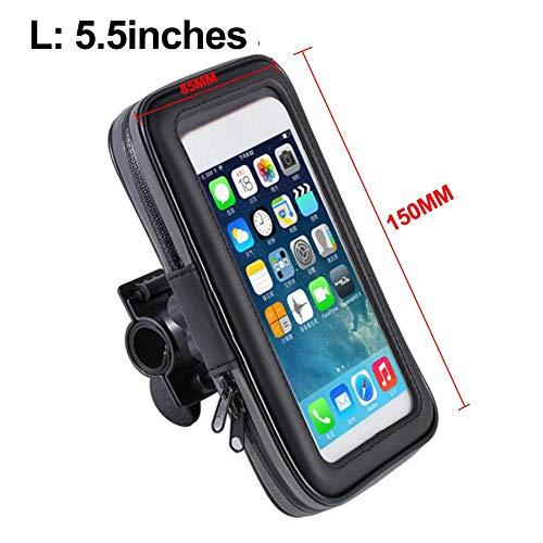 waspde Fahrradhalterung wasserdichtes Telefon GPS-Gehäuse, 360 ° drehbare Fahrradlenkstange Touchscreen-Halterung Tasche Frontrahmen Anti-Shake-Radsporttasche Zubehör, DREI Größen masterly