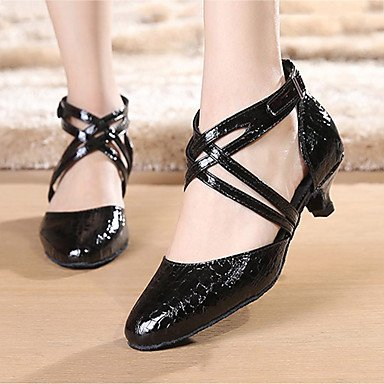 Non Aemember izable donne's scarpe da ballo latino / Sneakers Chunky Heel pratica Black,US9.5-10 / EU41 / UK7.5-8 / CN42