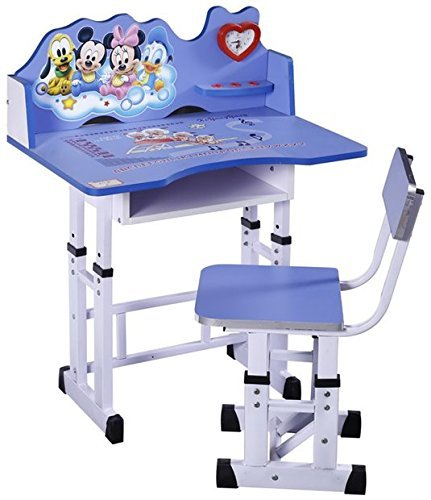 FF American Mickey Mouse Kids Study Table & Chair Set - Suitable for Age-3-10 Years - Blue - Imported by Furniture First