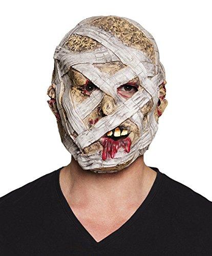 (Faschingsfete Halloween Kostüm Horror Latex Maske Mumie, Mehrfarbig)