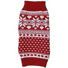 Tenchif Jersey de invierno de jerséis de puente de perros