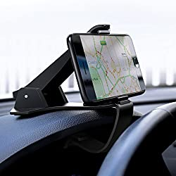 UGREEN Dashboard Phone Mount, Car Dash Phone Holder Clamp Safe Driving Car Cradle Stand Stand for 4-6.5 Inch iPhone XR/XS/Xs Max/X/8, Samsung S10/S9/S8/J6, Huawei P30/P20 Lite/P Smart, Blackview A20