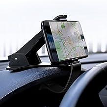 Soporte Coche Samsung S8, UGREEN Soporte Móvil Universal para Salpicadero de Vehículo, Soporte Teléfono de Coche Hud de Silicona para iPhone X/ 8Plus/ 8/ 7, One Plus 3/ 5T, HTC, Sony y GPS(Negro)