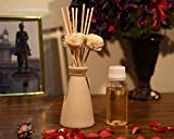 #9: Collectible India Handcrafted Ceramic Pot Reed Diffuser flower sticks Essential Aromatherapy Air Freshener With 50 ml Aroma Oil Combo Pack