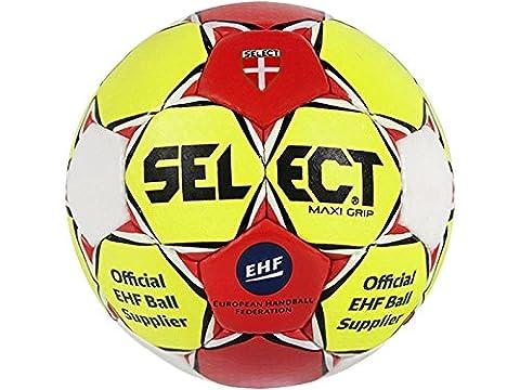 Select Maxi Grip Ballon de handball, gelb / rot / weiß, 1 - Jugend