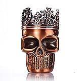 LIHAO Herb Grinder King Skull Alter gekrönter König Schädel Pollen Crusher für Spice,Kaffee,Herb,Kraeuter,Gewürze(Rot Bronze)