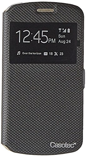 Casotec Premium Kickstand Caller-id Flip Case Cover with Snap Button Closure for Samsung Galaxy J2 (2016) - Black  available at amazon for Rs.149