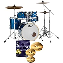Pearl Export EXX725S Drum Kit Electric Blue Sparkle & Zildjian Planet Z Cymbals