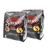 Senseo Coffee Pods Extra Strong Coffee/Extra Strong Intense and Full Bodied 8 oz for Kaffepadmaschinen 72 Pads