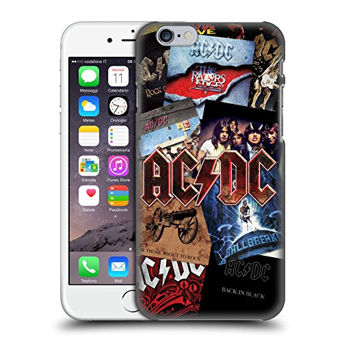 Ufficiale AC/DC ACDC Arte Album Collage Cover Retro Rigida per Apple iPhone 6 / 6s