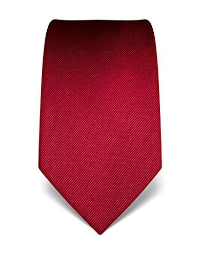 Vincenzo Boretti Herren Krawatte aus reiner Seide, ton in ton gestreift, in vielen Farben,weinrot