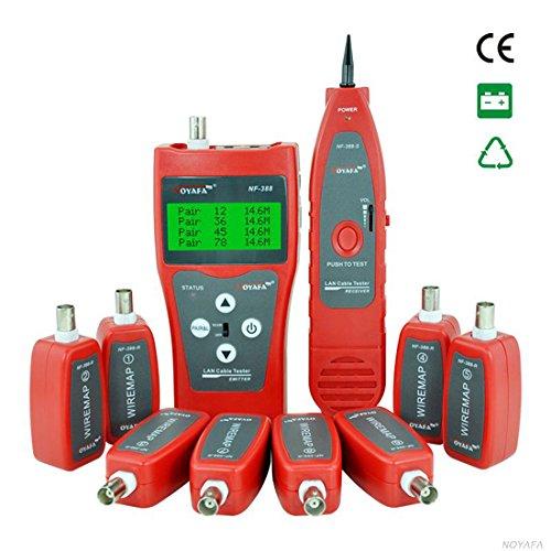 NOYAFA NF-388 Mehrzweck Netzwerk Kabeltester Detektor LAN Telefon Audio Kabeltester mit 8 Far -End- Passive Test Jacks
