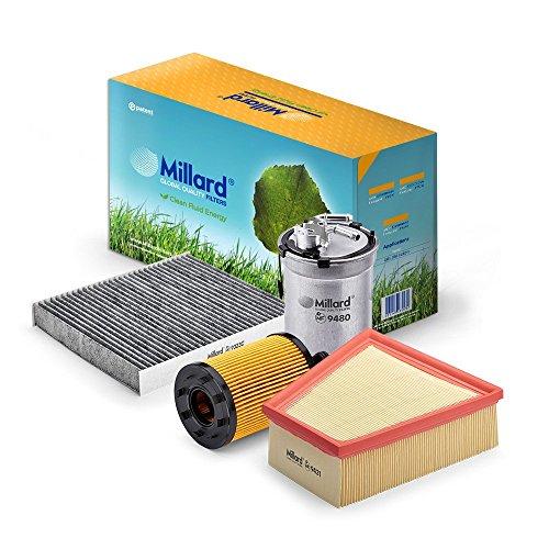 Millard Filters MZ-3013 - Kit de filtros para Cordoba 3, Ibiza 4, Fabia 1 o Polo 4