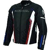 Richa Gotham tessile giacca corta moto motocicletta nero, Black White Blue