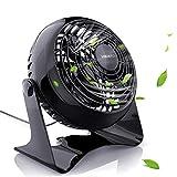 Ventilatore USB, VGUARD 6 Pollici Portatile Ventilatore da Tavolo Silenzioso Mini Fan con 2 Velocità Regolabili, Ventola Raffreddamento per Casa, Ufficio, Camera da letto e altro - Nero
