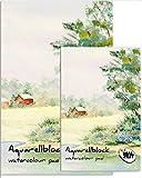 182143-2 - 2 x Aquarellblock Basic DIN A3 - 10 Blatt - 210 g/m²