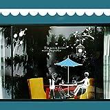 SMNCNL Kreative Kaffee und Tee, Kaffee-Ersatz Kaffee shop Mädchen kaltes Getränk und trinken Glas windows Poster showcase Wall Sticker, Weiß + Ice Blue, dass König