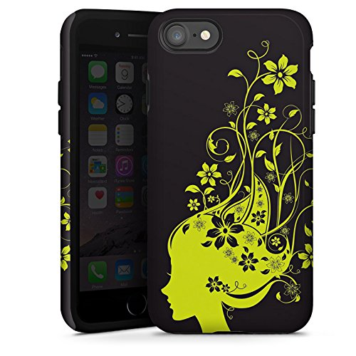 Apple iPhone X Silikon Hülle Case Schutzhülle Blüten Muster Mädchen Tough Case glänzend