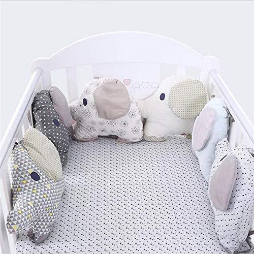 LouisaYork lettino cuscino, paracolpi per lettino, nuovo set di biancheria da letto, 27x 34cm, pezzi (Elephant)