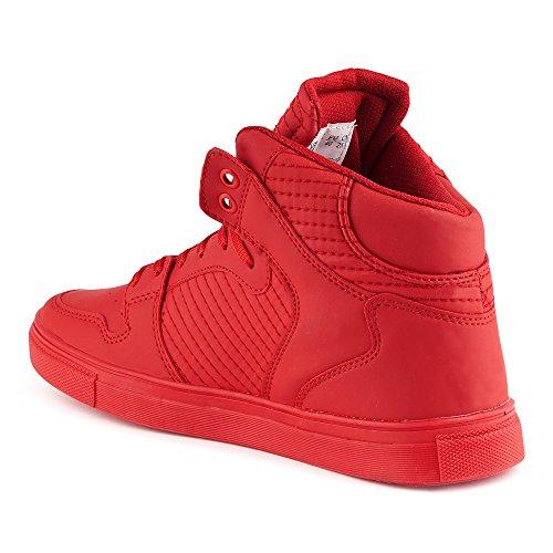 FiveSix Herren Sportschuhe High Top Sneaker Basketballschuhe Freizeitschuhe Schuhe Rot